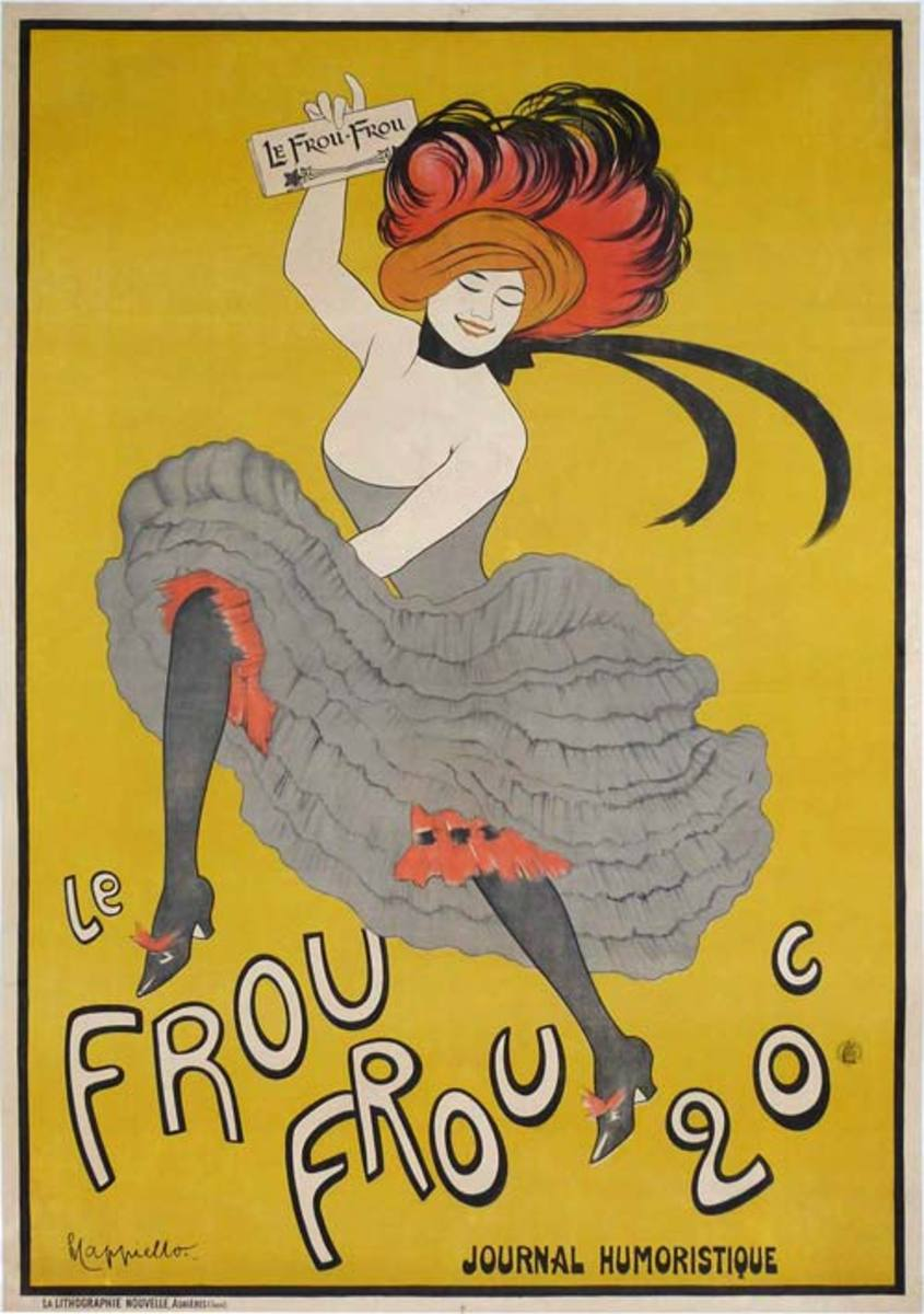 Leonetto Cappiello's First Poster for the Newspaper Frou Frou in 1899