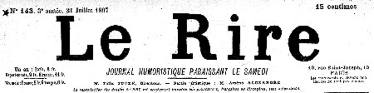 Le Rire, Famous Parisian satirical weekly
