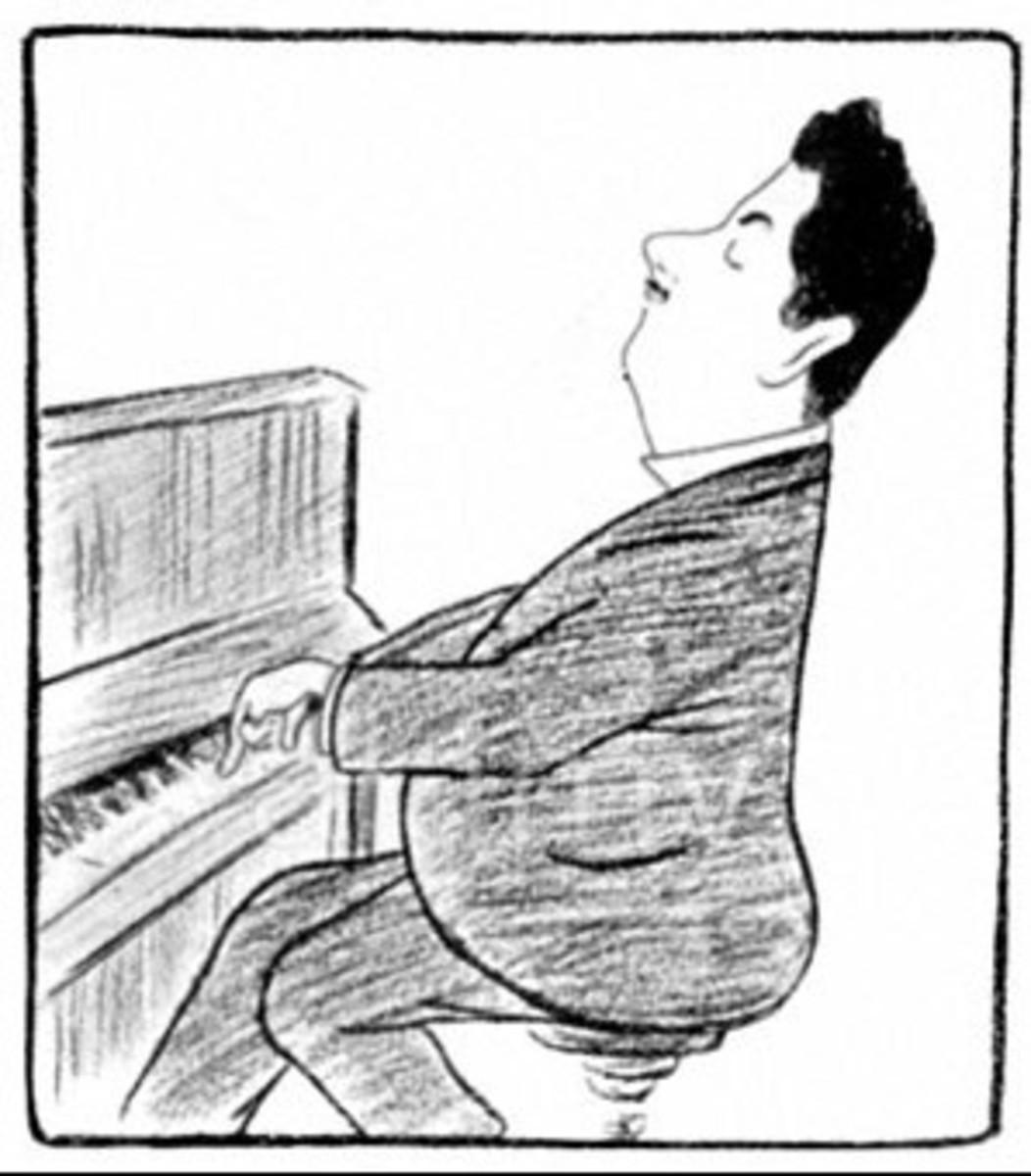 Cappiello's caricature of Puccini