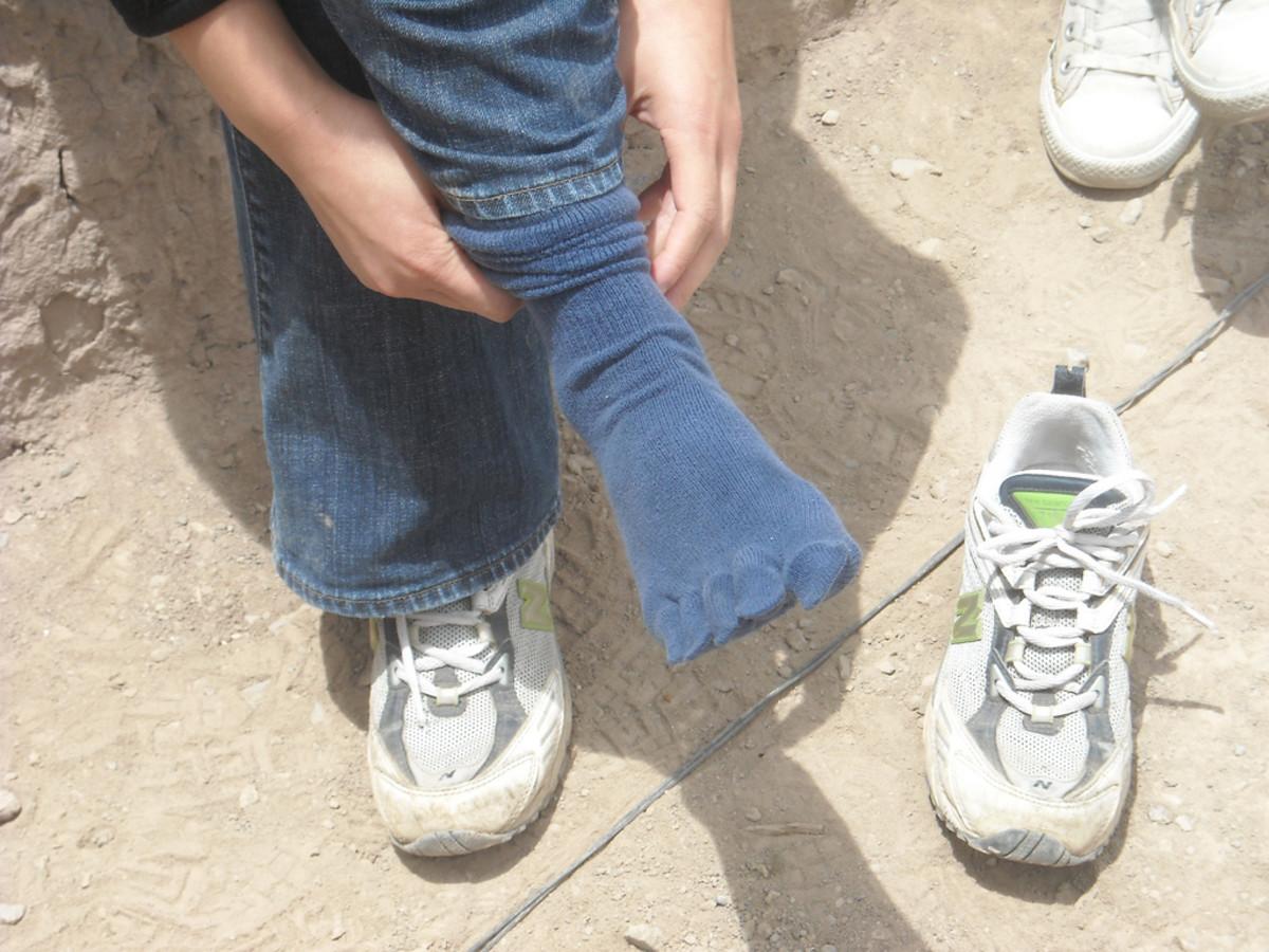 Toe socks in regular shoes