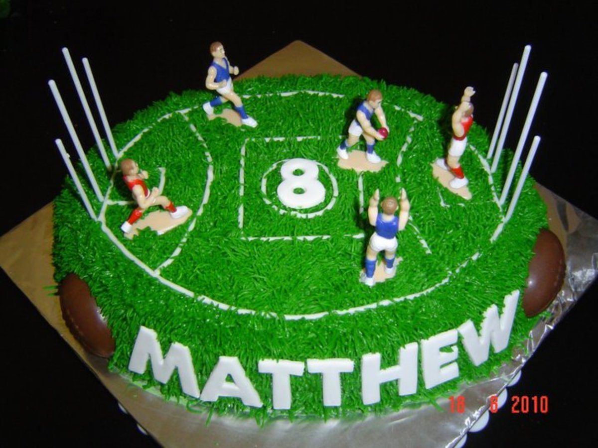 footy birthday cakes