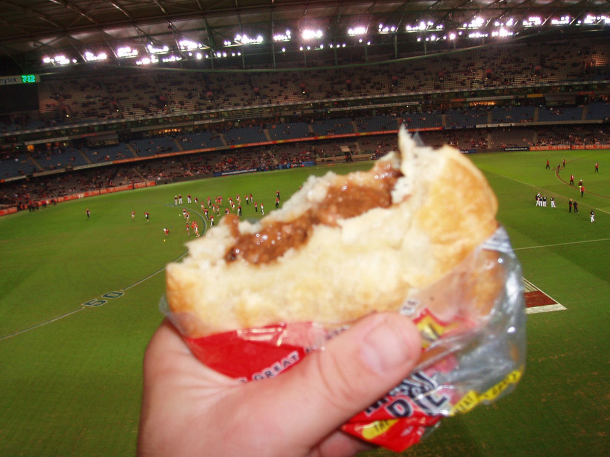 Pies and footy... a long-held Australian tradition