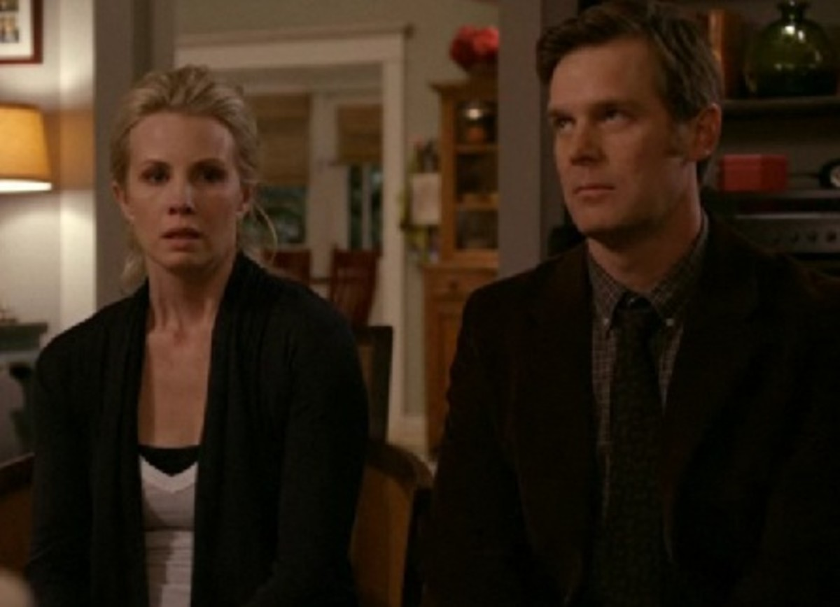 Peter Krause and Monica Potter as Adam and Kristina Braverman