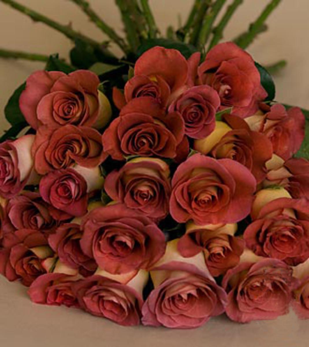 Brown Rose Wedding Flower