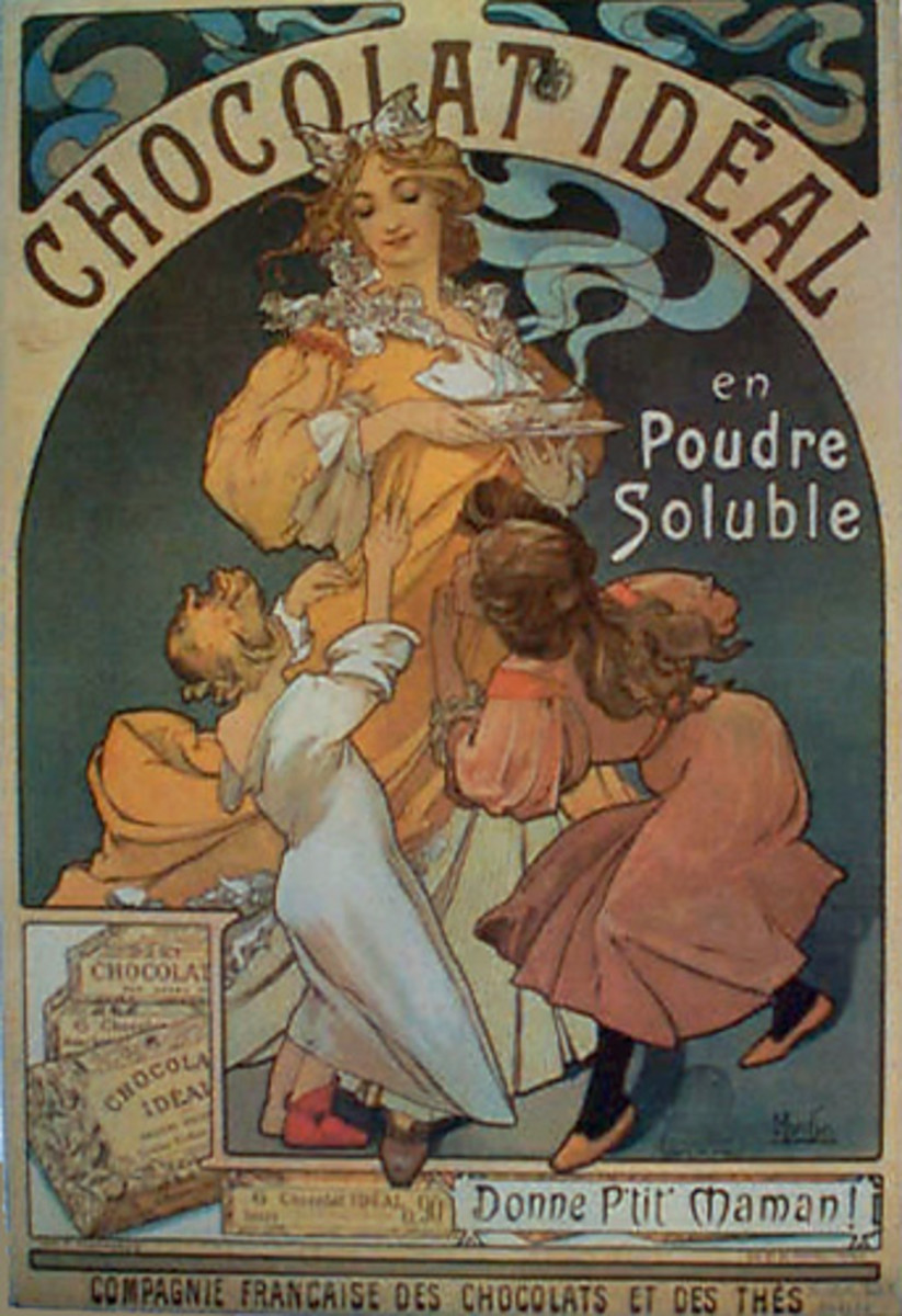 A poster by Alphonse Mucha