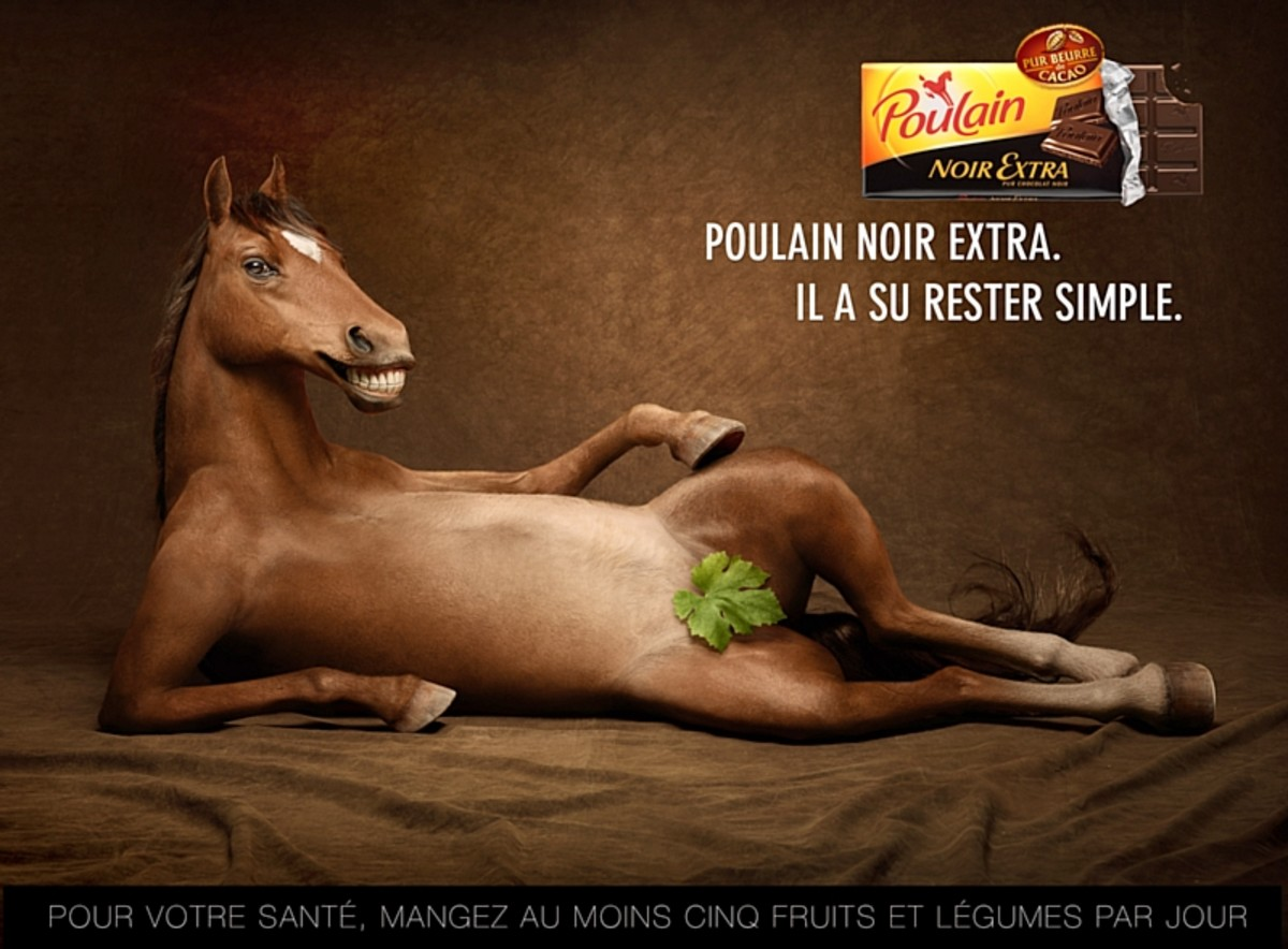 Brand Identity: Bolting Horse for Poulain chocolate : Cappiello's logo in a modern twist