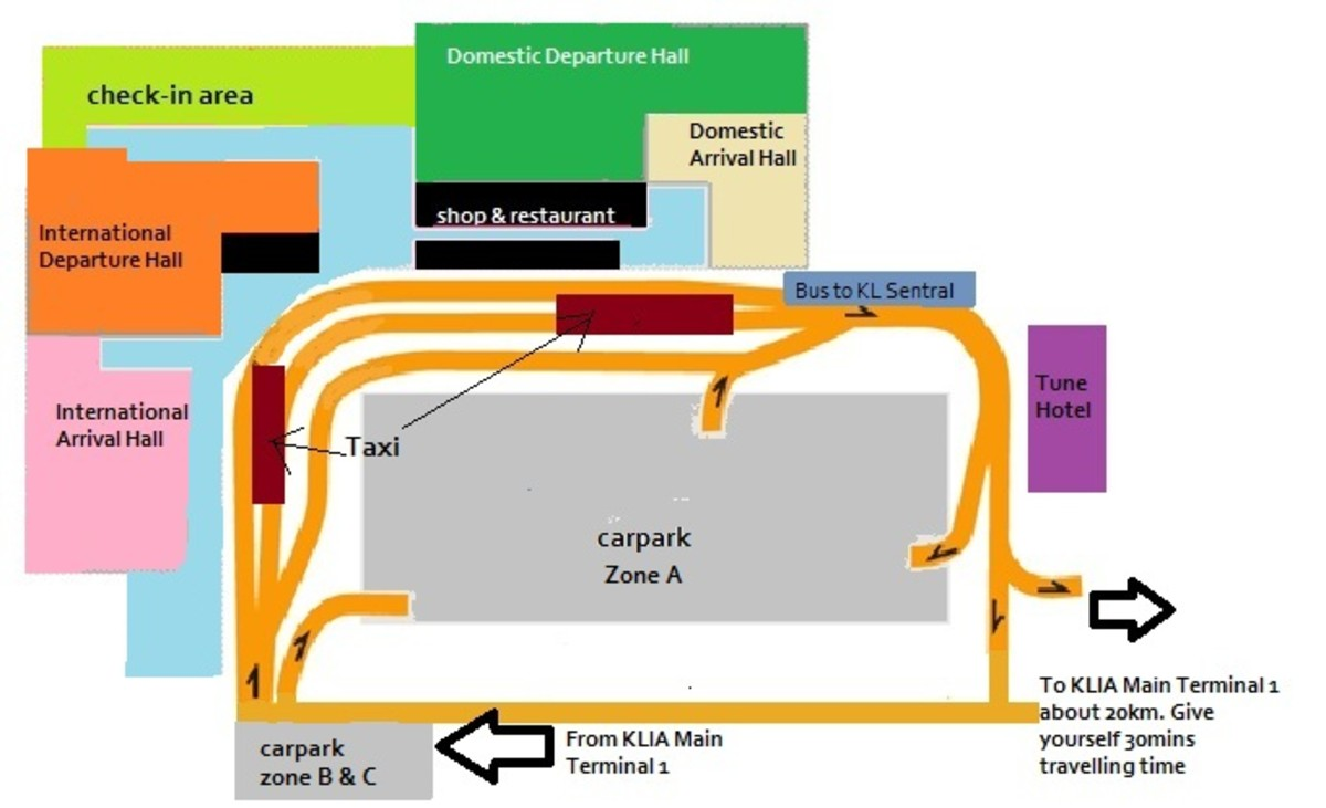 Layout of LCCT - Low Cost Carrier Terminal in Sepang Malaysia