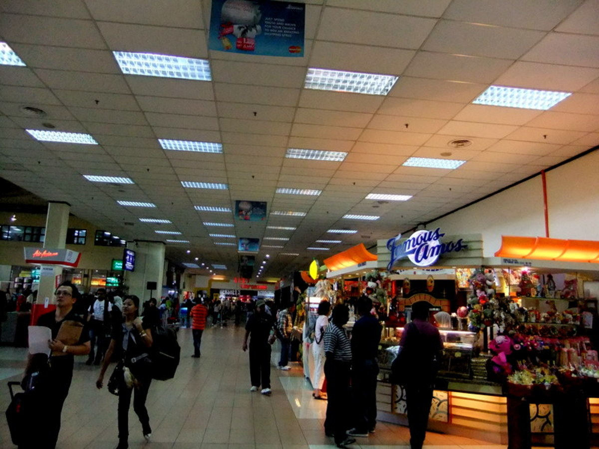 Several retail shops and restaurants available in LCCT