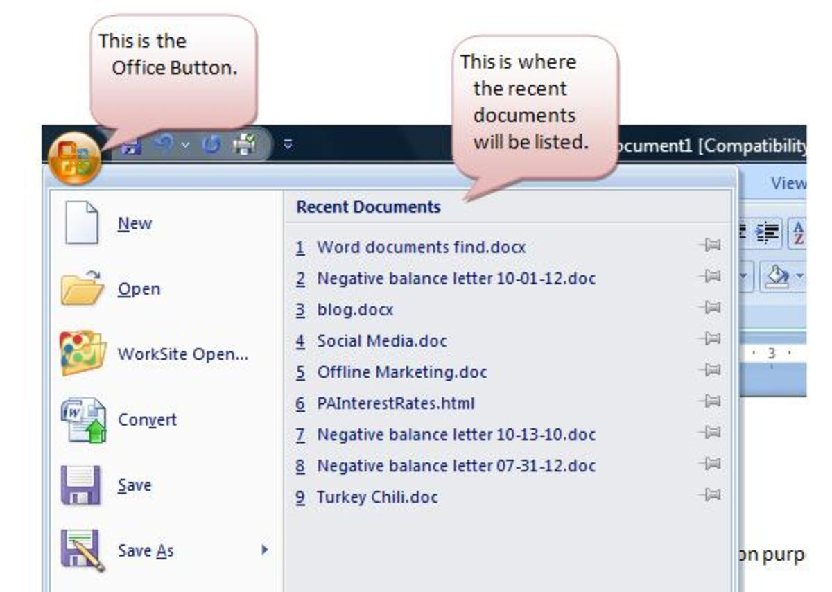 How to Find a Recently Modified Document on Microsoft Word