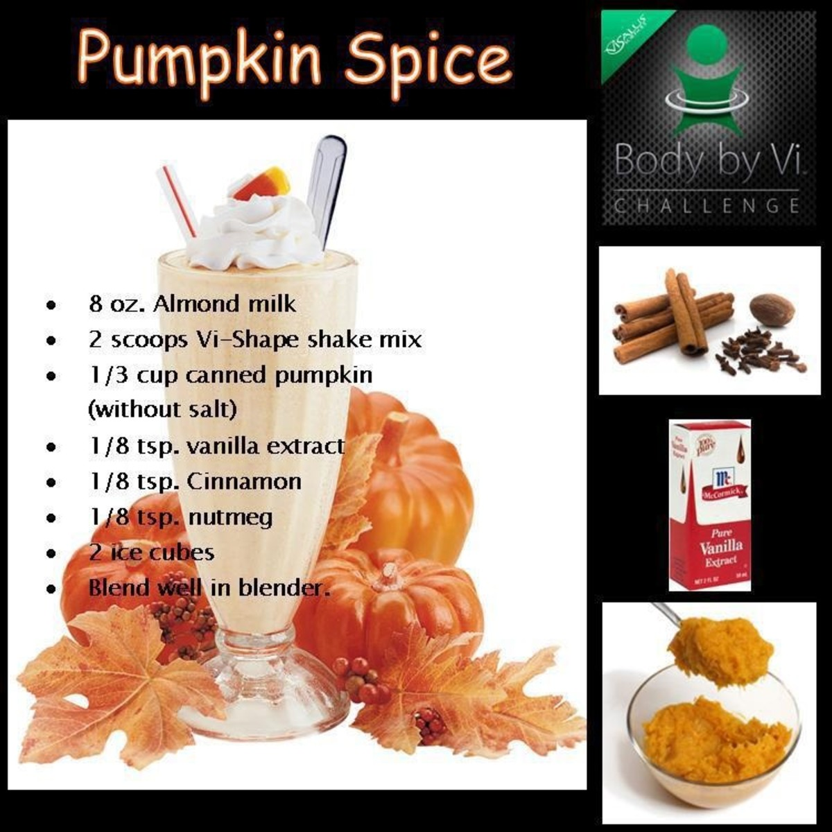 Pumpkin Spice Shake Recipe