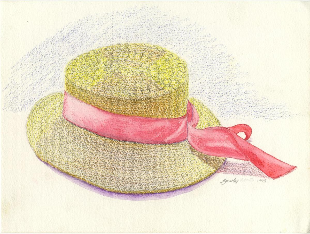 My Hat, colored pencil, 1995.