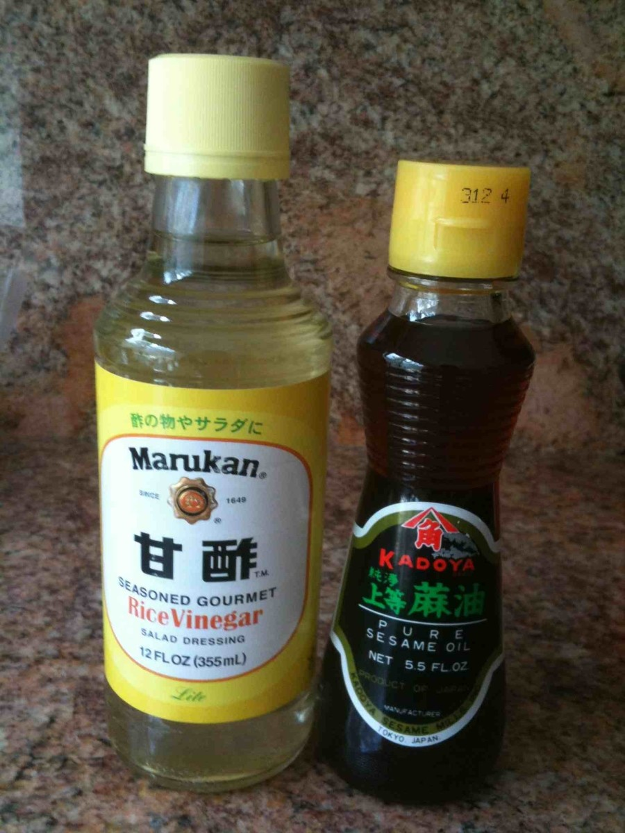 Rice Vinegar Salad Dressing, Sesame Oil