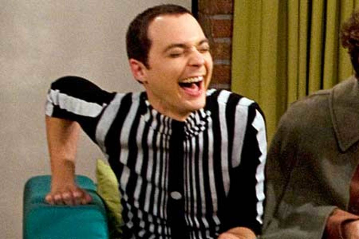 Sheldon in his Doppler Effect costume