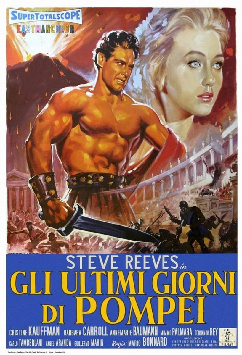 The Last Days of Pompeii (1960) Italian poster