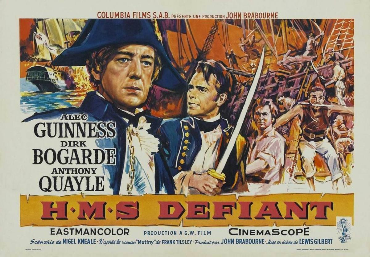 HMS Defiant (1962) Belgian poster