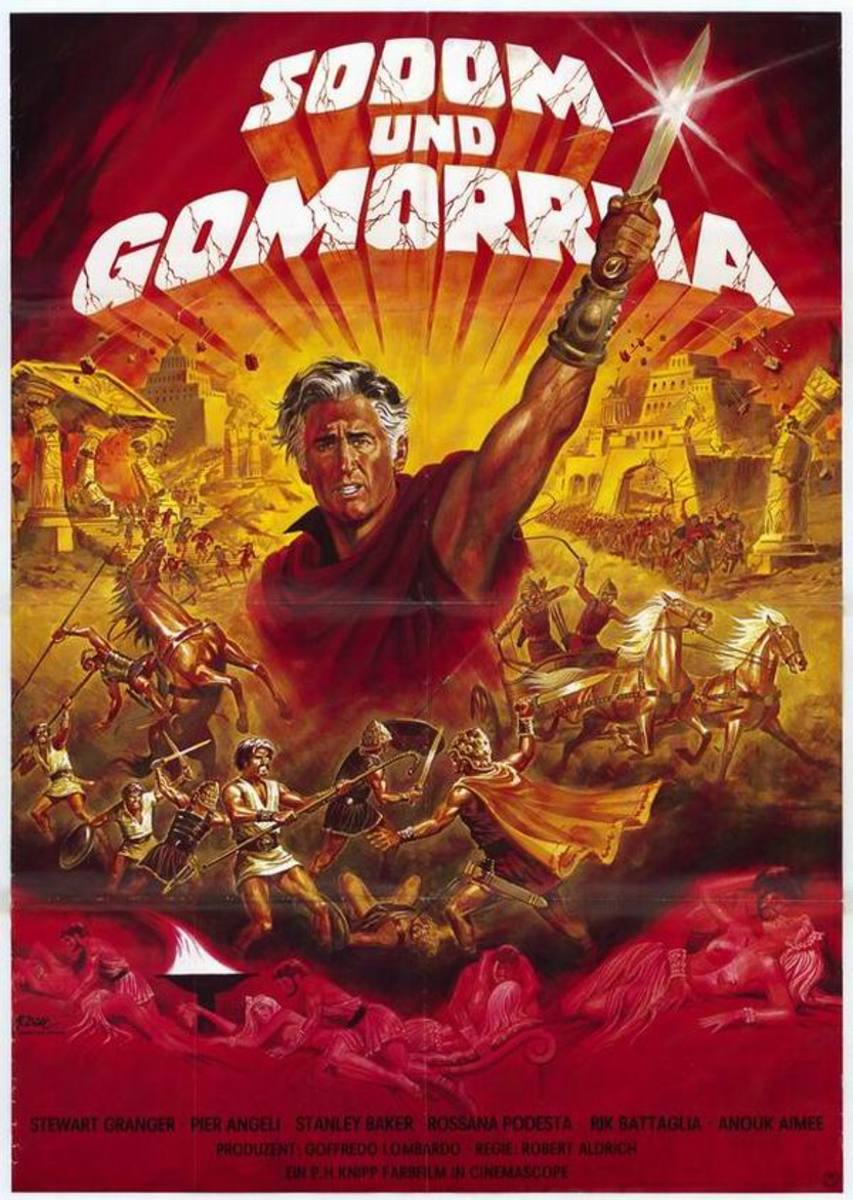 Sodom and Gomorrah (1962) German poster