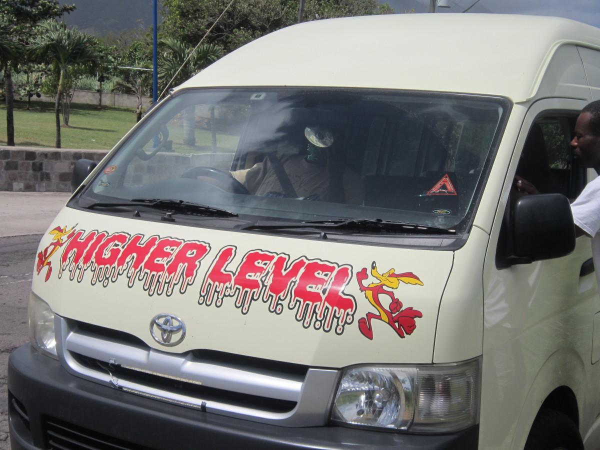 Passenger van in Saint Kitts