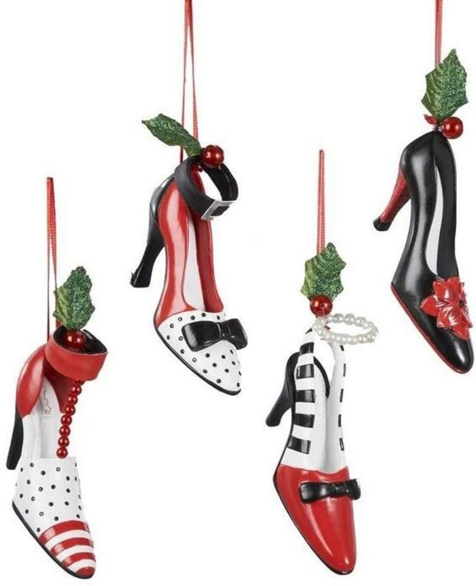 High Heel Shoe Christmas Ornaments