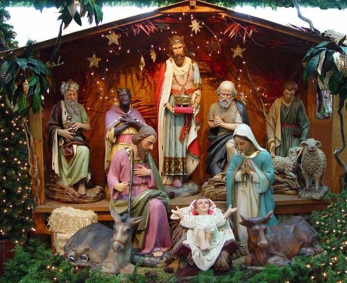 christmas nativity outdoor yard decorations. Black Bedroom Furniture Sets. Home Design Ideas