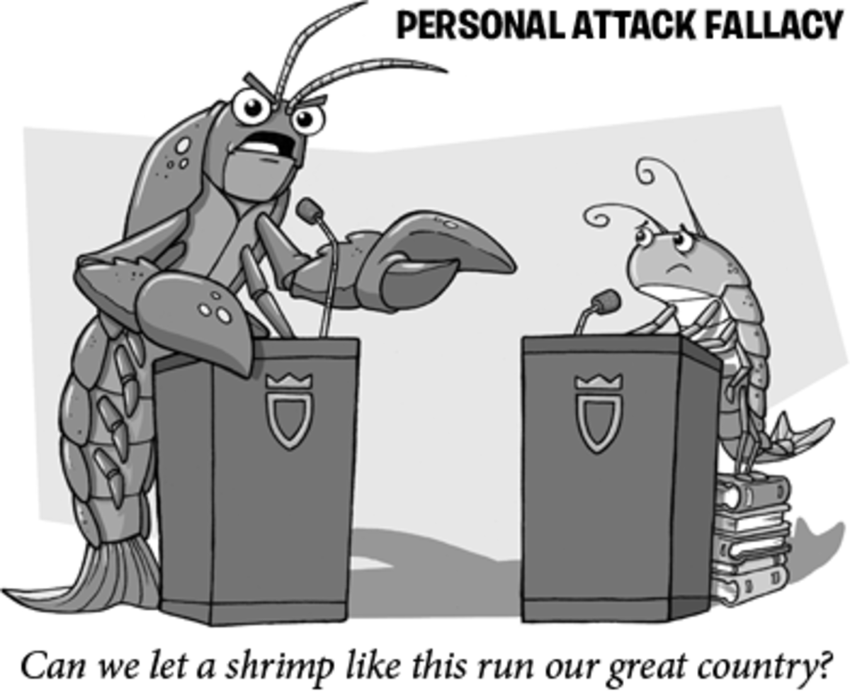 """Can we let a shrimp like this run our great country?"" The lobster asked."