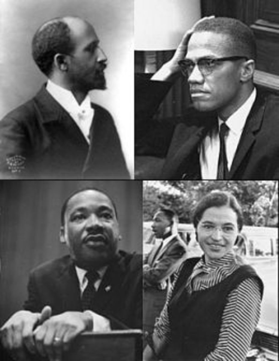 W.E.B. du Bois; Malcolm X; Martin Luther King Jr.; Rosa Parks