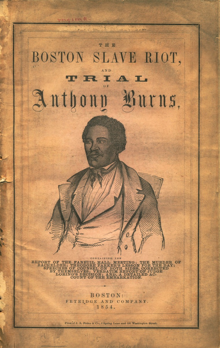 The publication presents the fugitive slave case of Anthony Burns and recounts the riot that took place in Boston in response to the decision to return him to his captors.