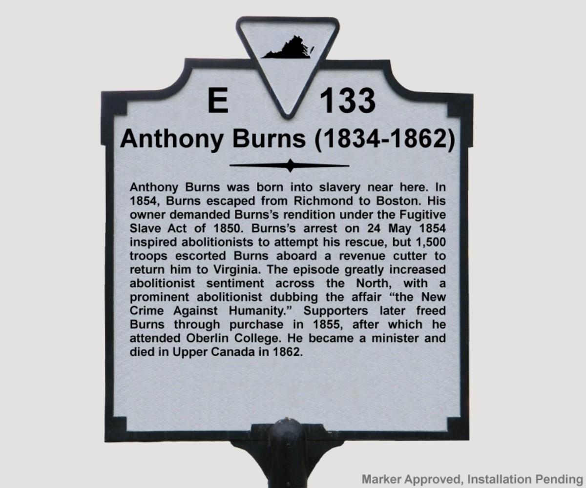 Anthony burns - 1834 - 1862
