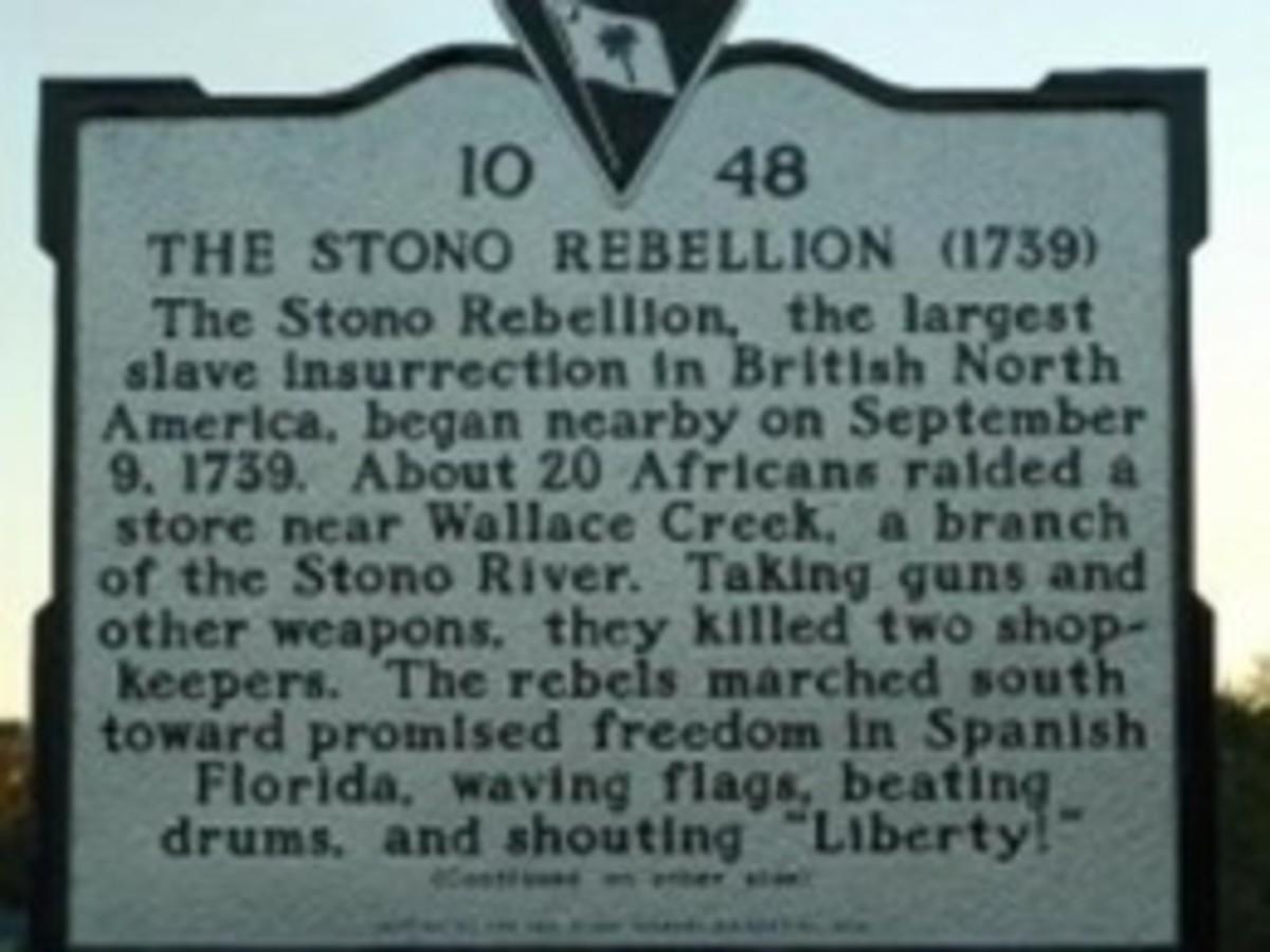 Plaque Commemorating the Stono Rebellion of 1739