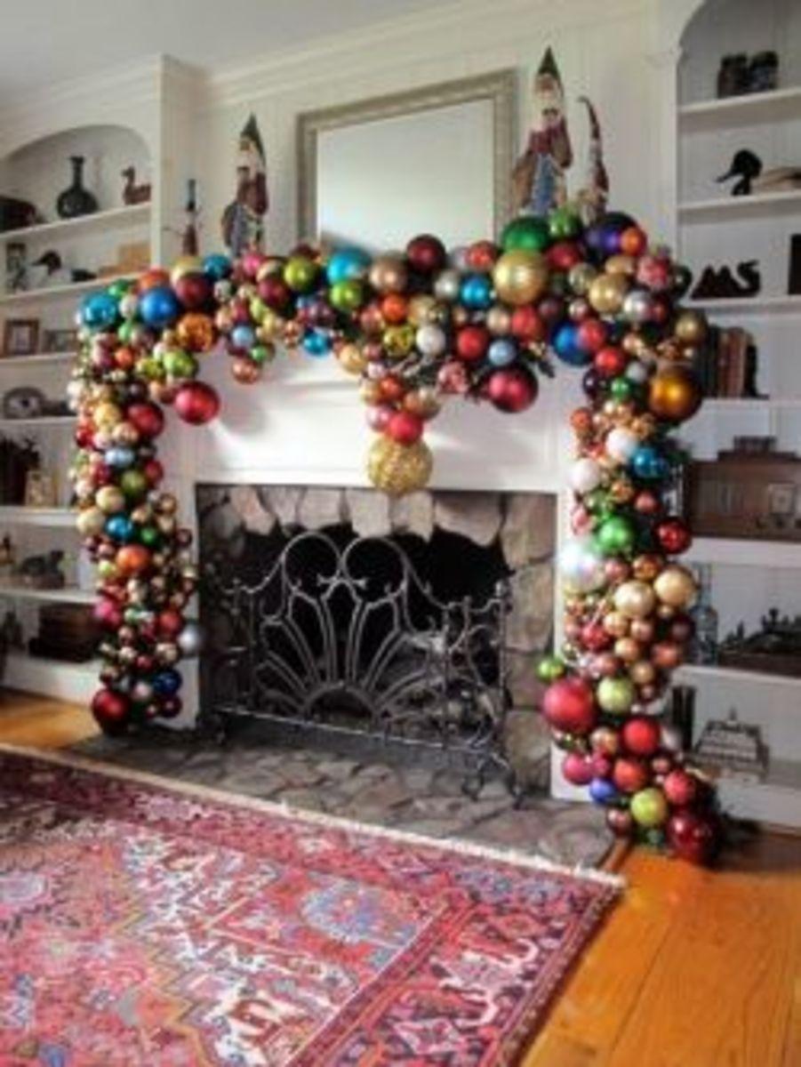 DIY Christmas Ornament Garland