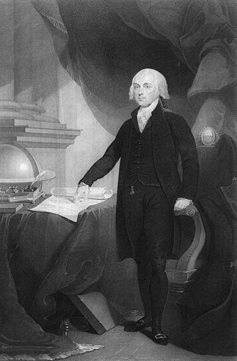 James Madison engraving by David Edwin