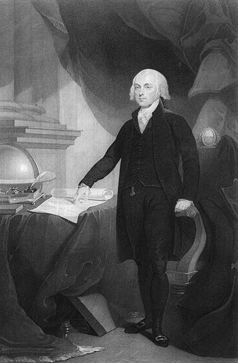 James Madison engraving by David Edwin