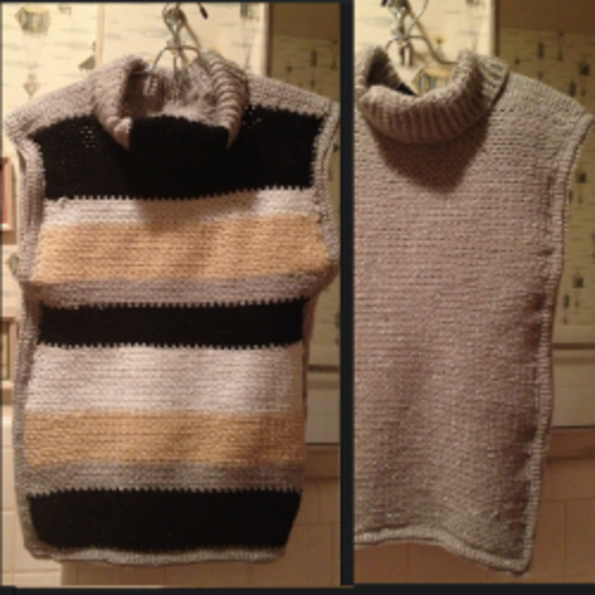 Custom Fit Sleeveless Reversible Turtleneck Sweater - Free Crochet Pattern!