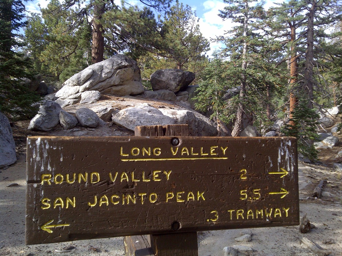 Sign near the Long Valley ranger's station