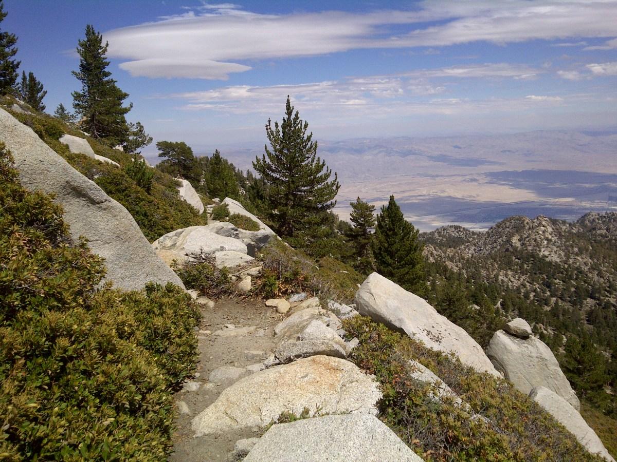 Coachella Valley view, trail to San Jacinto Peak