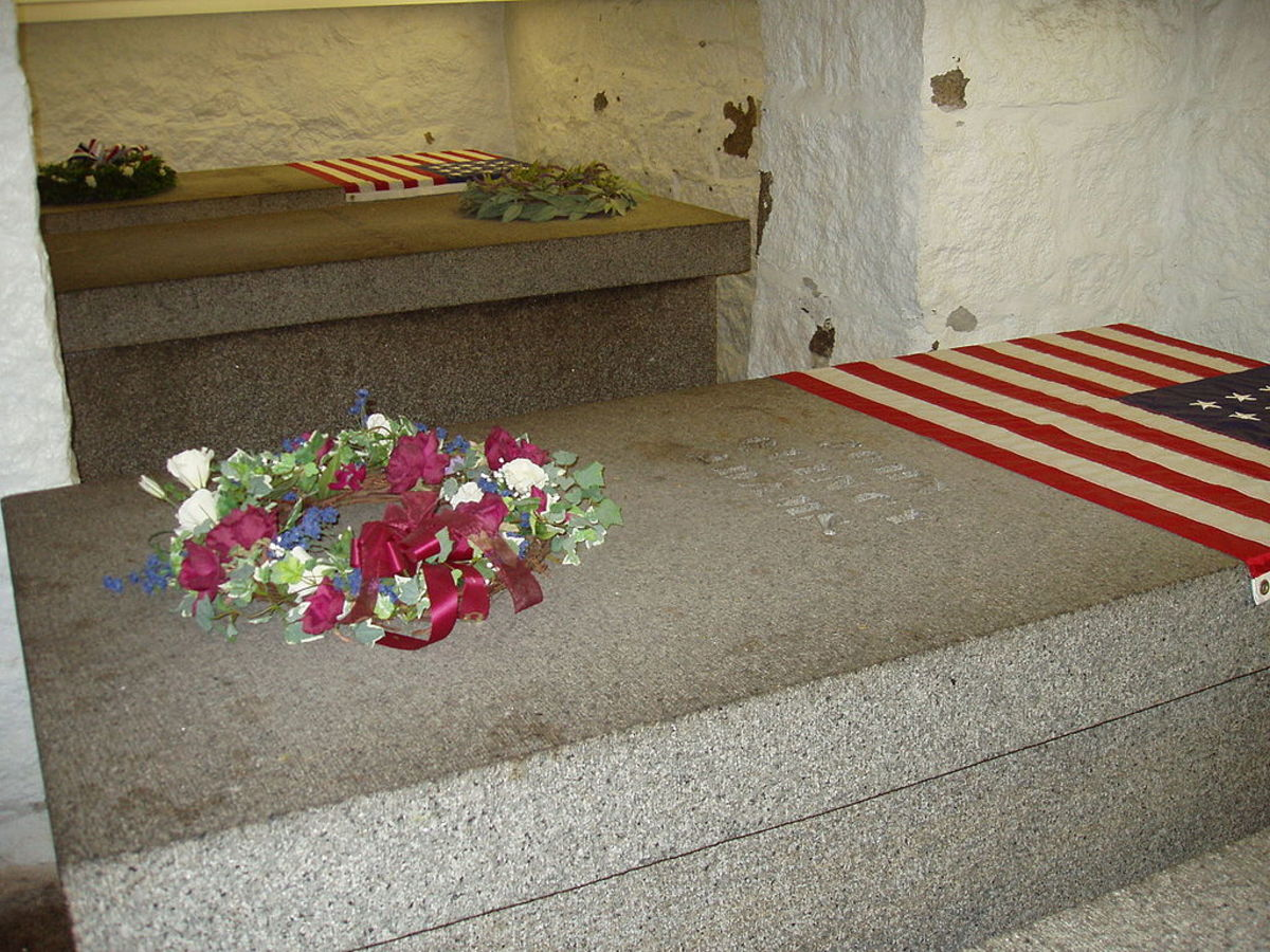 The graves of John Adams and his family at United First Parish Church