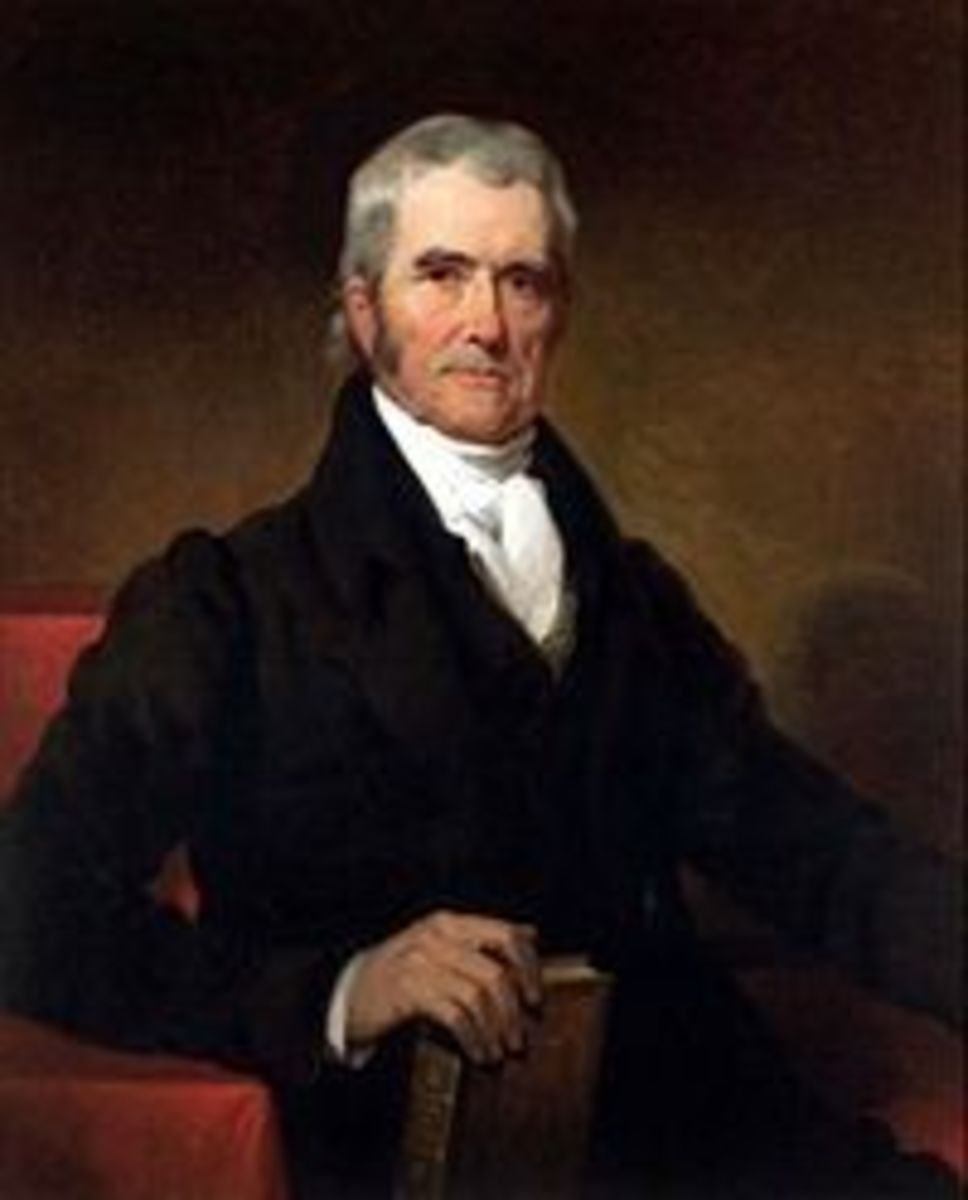 Portrait John Marshall by Henry Inman