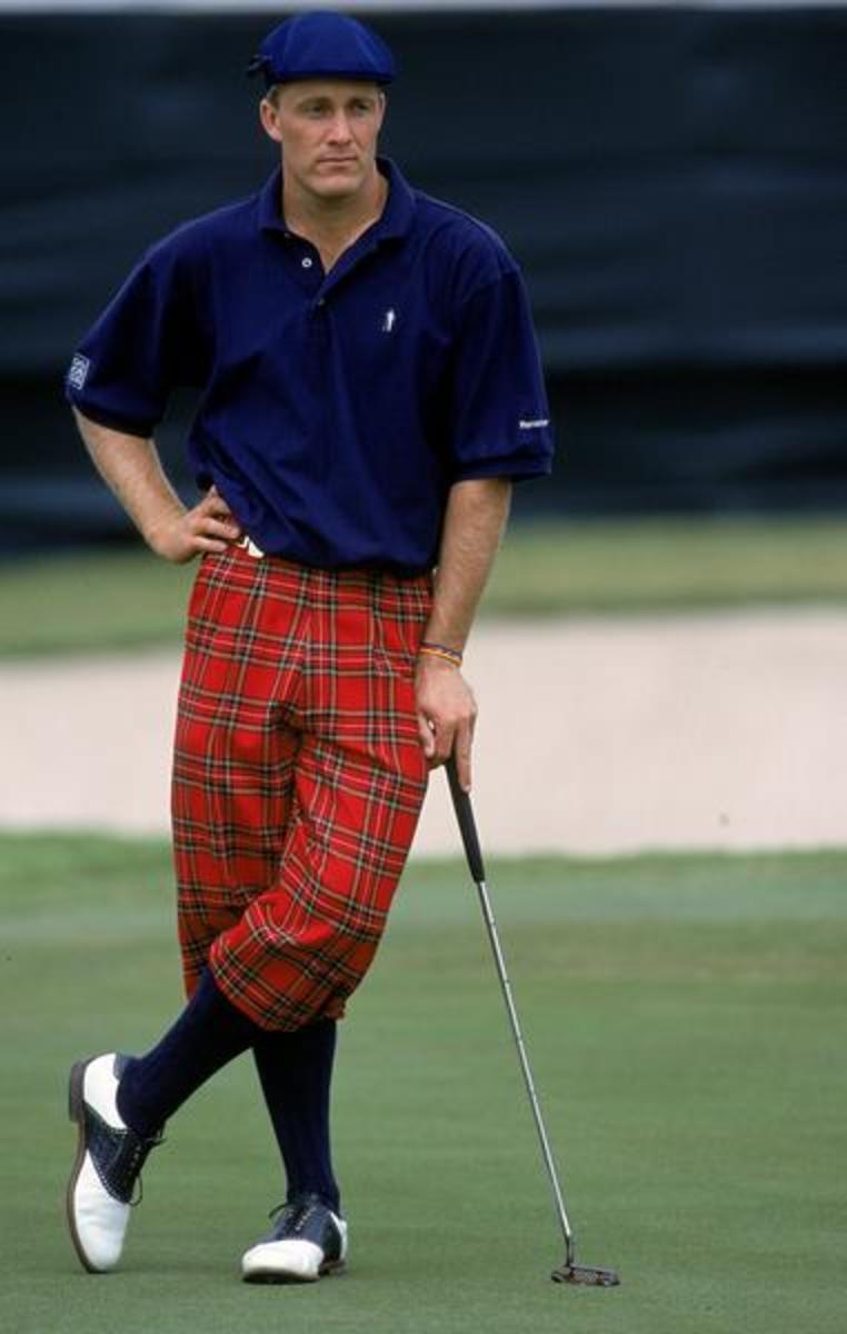 Well-dressed golfer wearing knickers