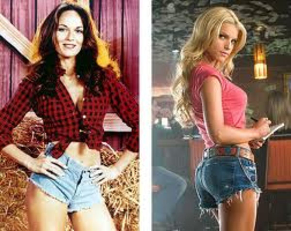 Catherine Bach and Jessica Simpson