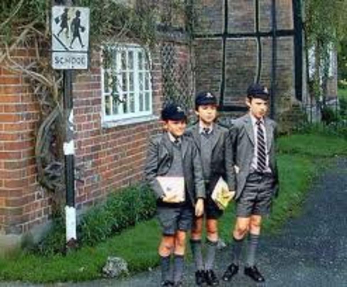 British schoolboys in uniform