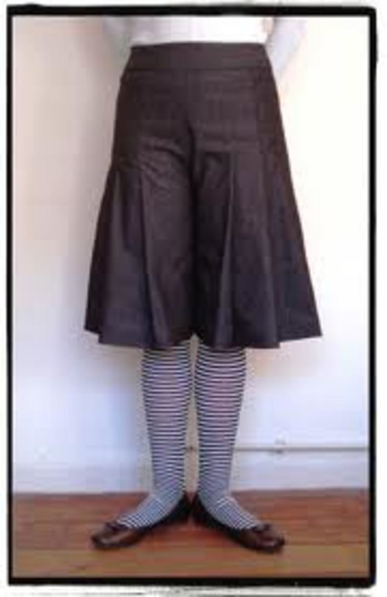 Pleated women's culottes