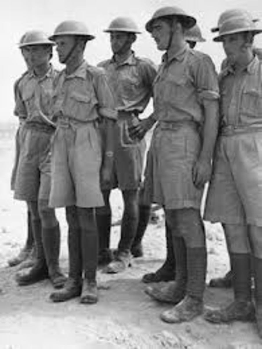 British army officers in uniform