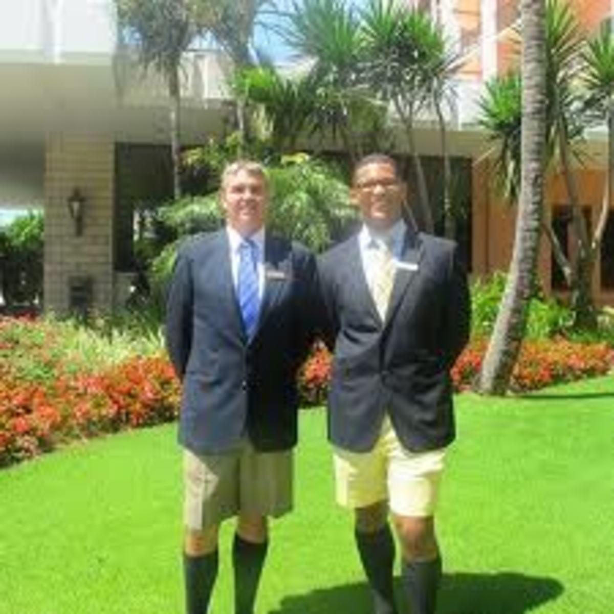 Men wearing Bermuda shorts in Bermuda