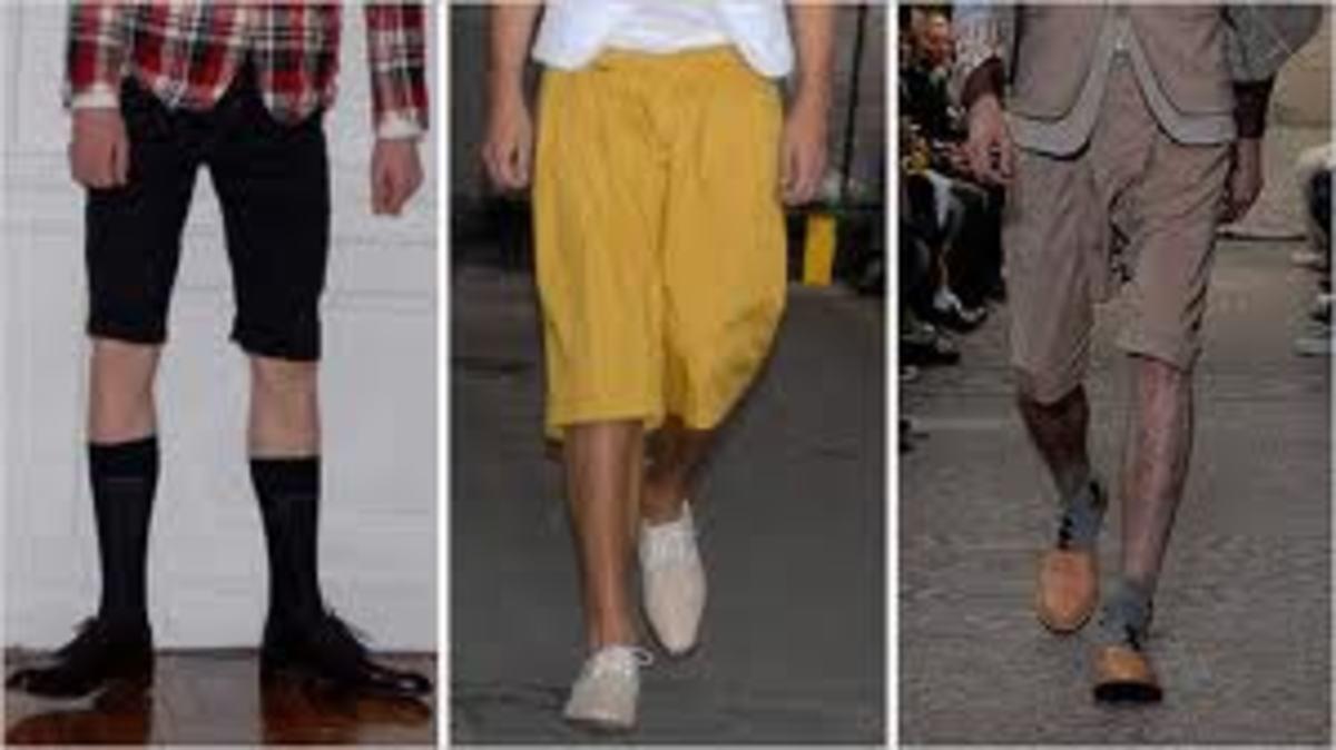 Designer flood pants by John Galliano