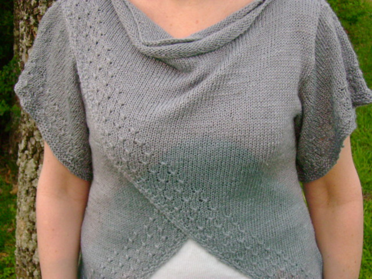 drape on tulip wrap top  (c) purl3agony 2012