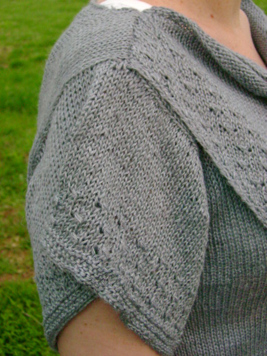 Knitting Picking Up Stitches For Sleeves : Free Knitting Pattern: Directions for Tulip Drape Top hubpages