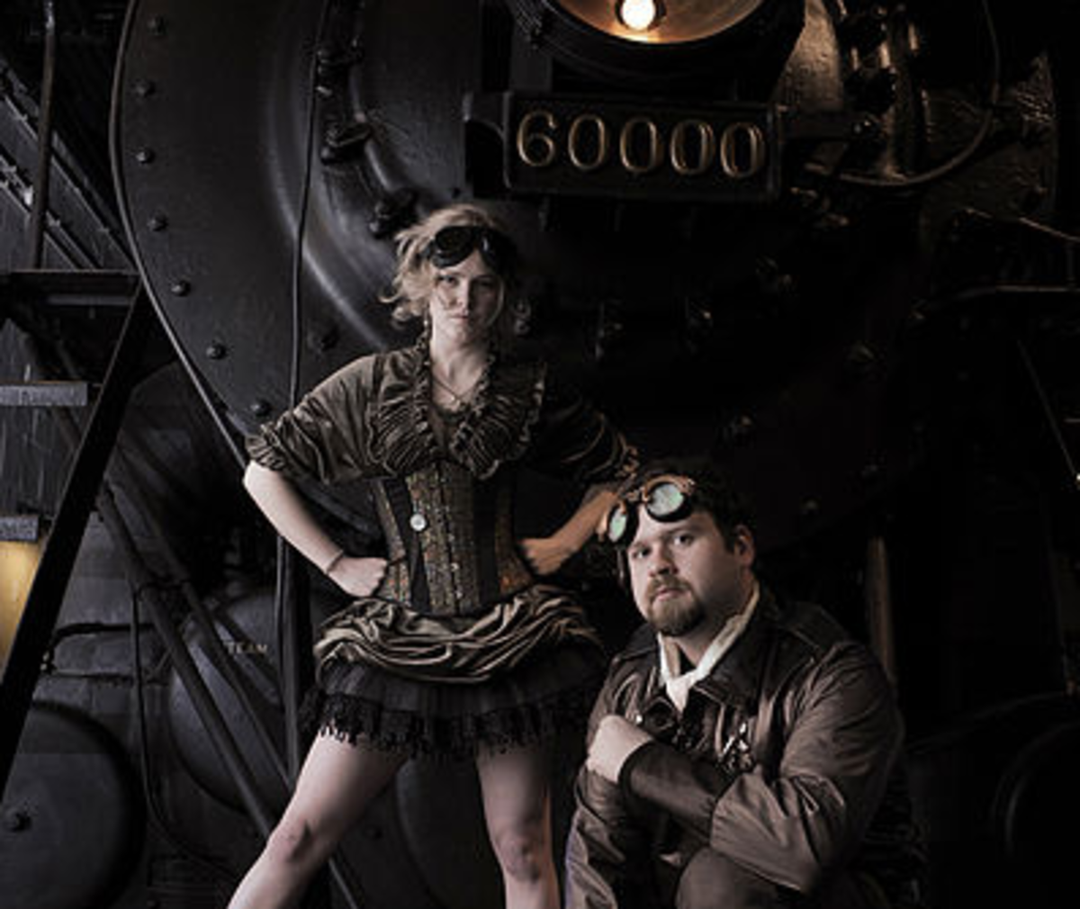 Goggles are one great accessory for your homemade steampunk costume.