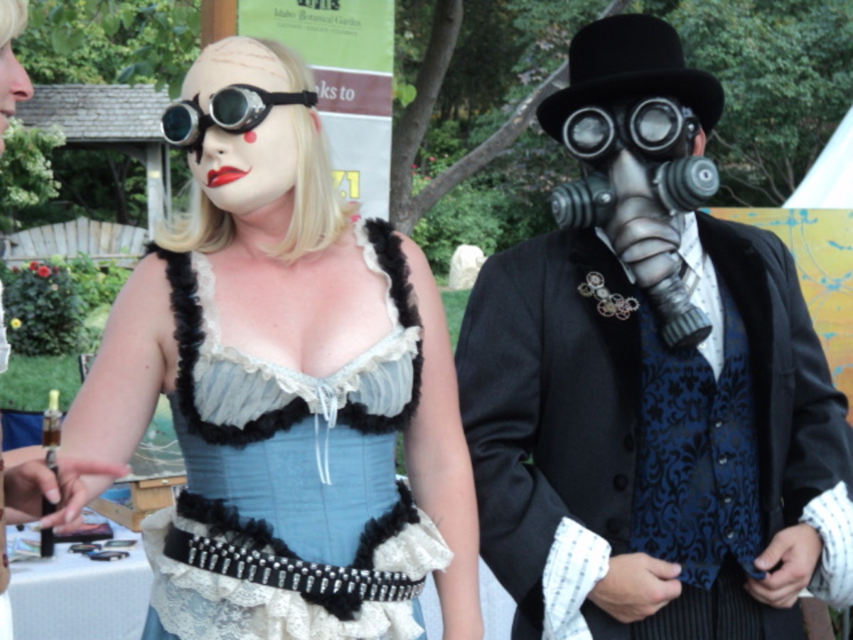 Steampunk goggles and masks can make a costume really snap!