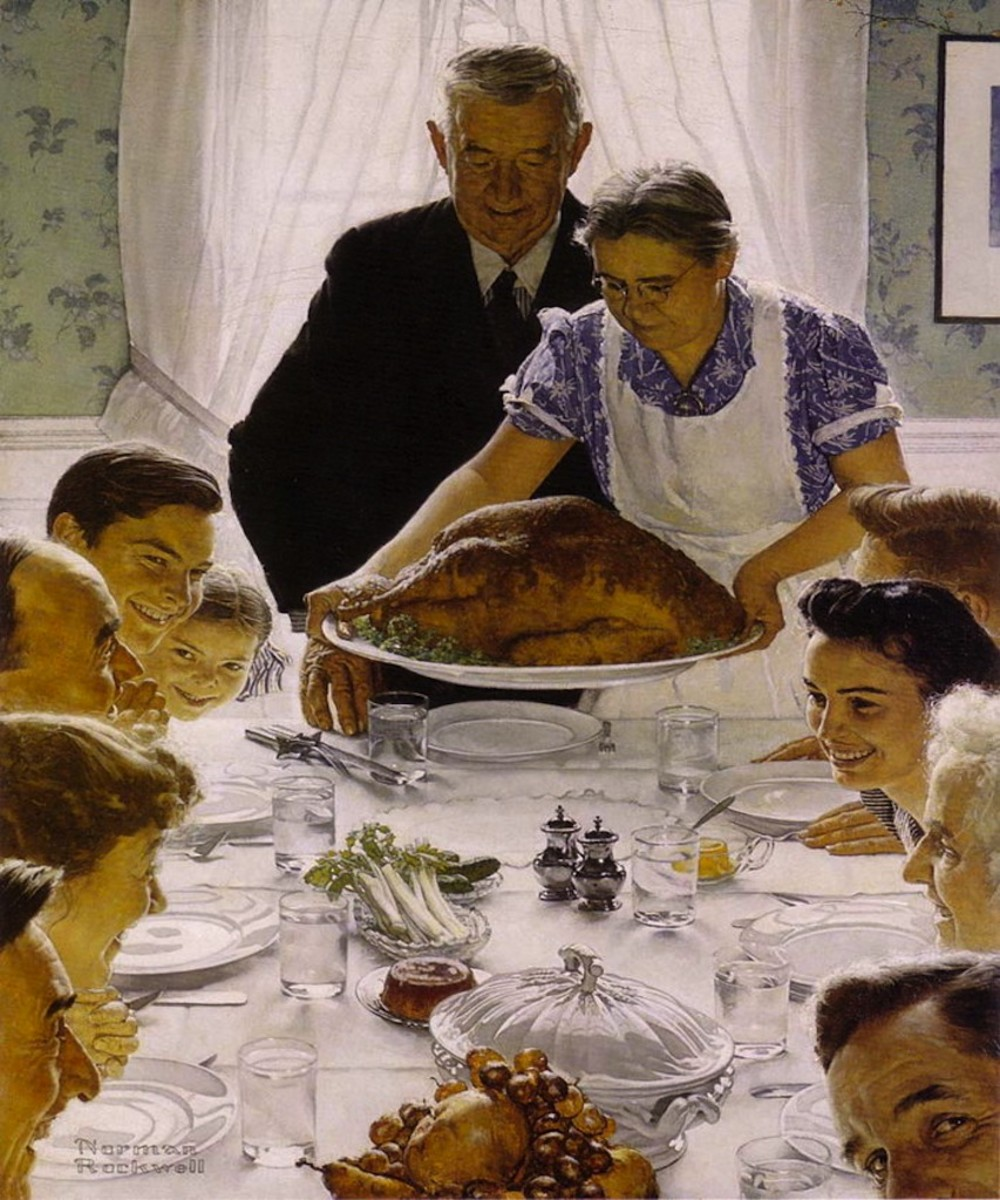 """Thanksgiving"" by Norman Rockwell"