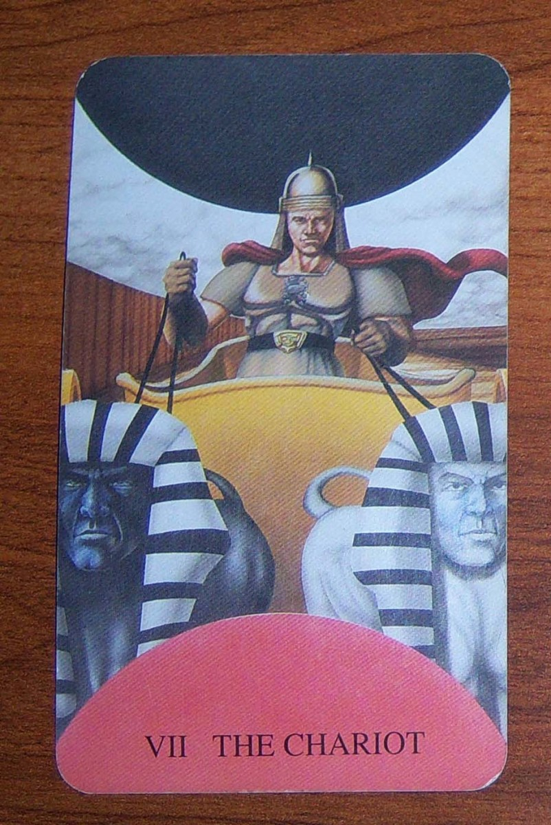 The Chariot Card from The Witch's Tarot