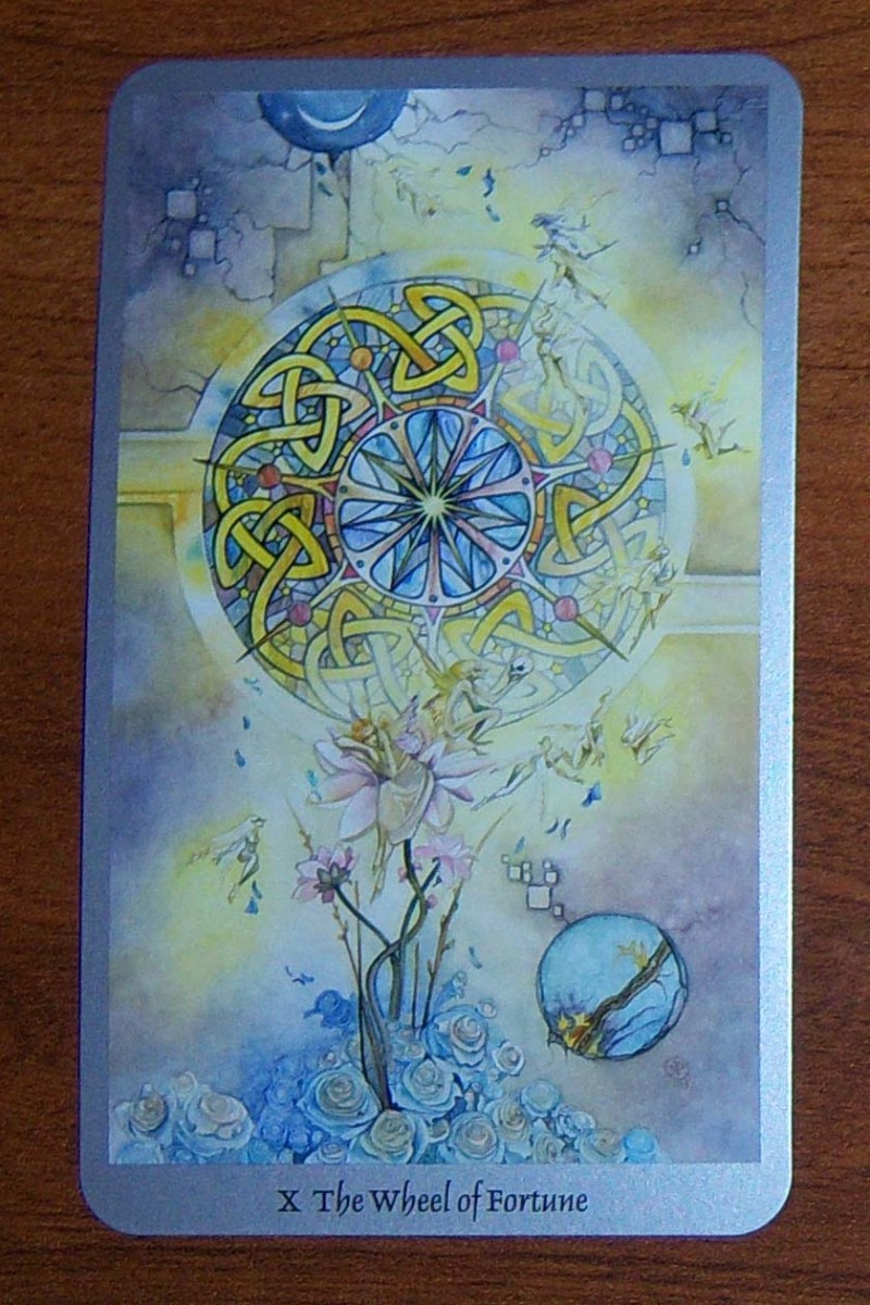 The Wheel of Fortune Card from Shadowscapes Tarot